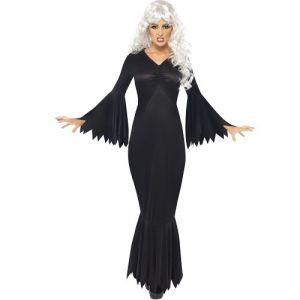 Halloween Fancy Dress Midnight Vamp Costume - S, M, L or XL