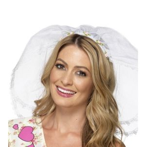 Hen Party Bride to Be Headband with Veil