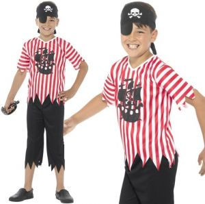 Childrens Jolly Pirate Fancy Dress Costume
