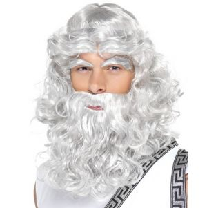 Greek God Zeus Fancy Dress Wig, Beard & Eyebrow Set