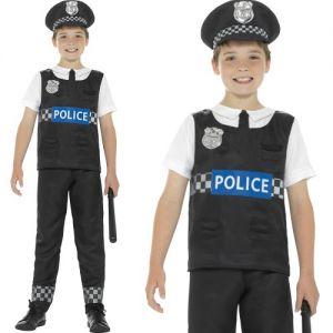 Childrens Police Cop Fancy Dress Costume