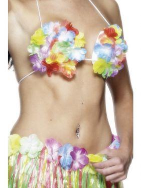 Hawaiian Floral Shell Bra Fancy Dress