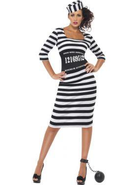 Ladies Classy Convict Lady Costume