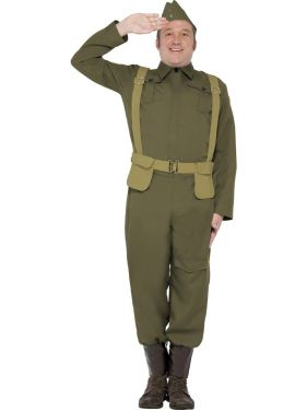 Mens 40s Home Guard Private Fancy Dress Costume