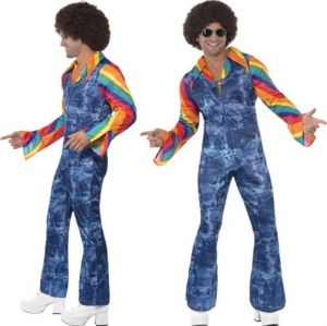 Mens 70s Disco Groovier Dancer Costume