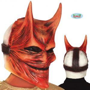 Devil Lucifer Full Head Mask with Horns