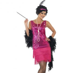 Ladies Funtime Flapper Fancy Dress Costume