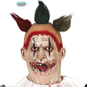 Adult Latex Clown Mask with Hair