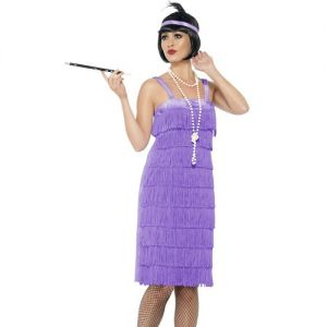Ladies Jazz Flapper Fancy Dress Costume - S, M, L or XL