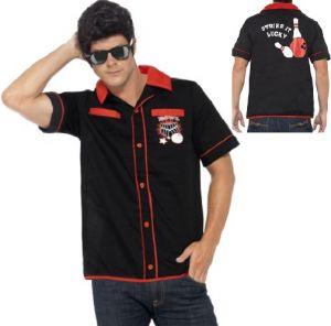 Mens 50's Bowling Shirt - M & L
