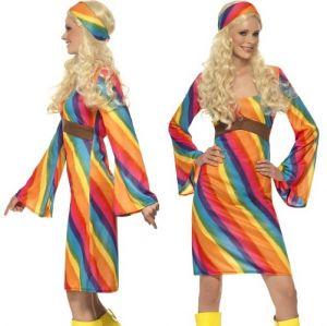 1960s Rainbow Hippy Costume