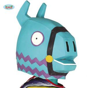 Blue Llama Game Character Full Head Mask