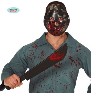 Halloween Mask Jason Hockey Mask & Machete