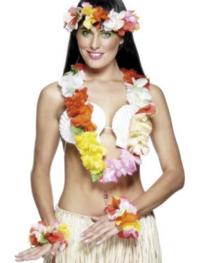 Hawaiian Fancy Dress - Deluxe Lei Set - Multi