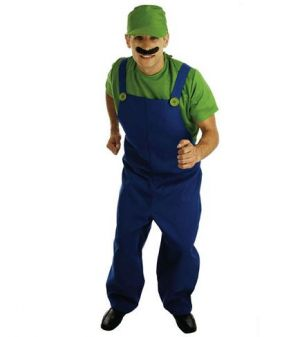 Plumbers Mate Green Fancy Dress Costume