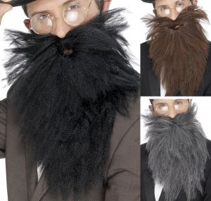 Fancy Dress Beard - Black, Brown or Grey