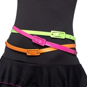 80s Fancy Dress Pack of 3 Neon Belts