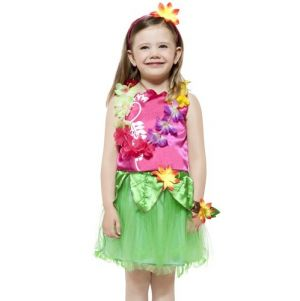 Childrens Hawaiian Hula Girls Fancy Dress Costume