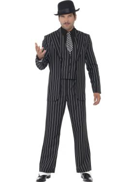 Mens Vintage Gangster Boss Costume