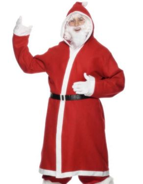 Mens Longer Santa Costume - M & L