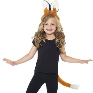 Childrens Fox Instant Fancy Dress Set - Ears on band & Tail
