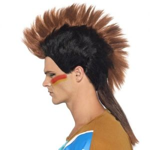 Indian Male Mohawk Mohican - Brown