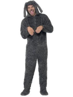 Fluffy Dog Fancy Dress Animal Costume - M or L