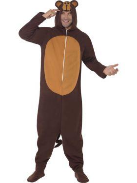Monkey Onesie Fancy Dress Animal Costume - M or L