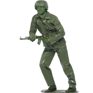 Mens Army Toy Soldier Fancy Dress Costume - M or L
