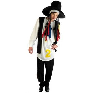 Mens 80s Pop Star Boy George Fancy Dress Costume