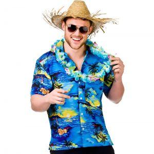Mens Blue Hawaiian Shirt