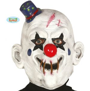 Adult Latex Clown Mask with Hat