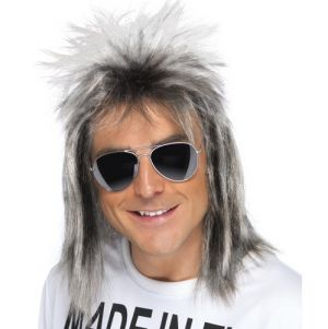 80s Mullet Fancy Dress Wig - Ash Blonde