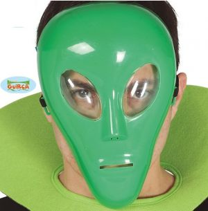 Plastic Alien Face Mask