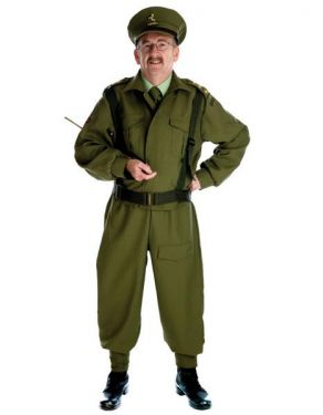 Army Fancy Dress 40s Home Guard Dads Army Officer Costume