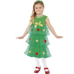 Christmas Fancy Dress - Girls Christmas Tree Tutu Dress Costume - S, M or L