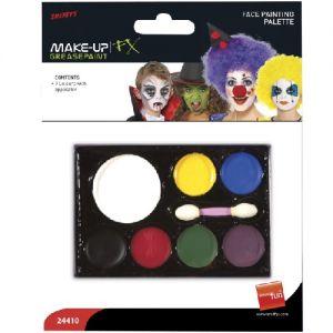Smiffys Face Paint Make Up Palette - 7 Colours