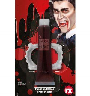 Halloween Fangs & Blood Set