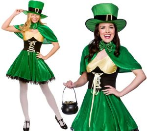 Ladies St Patricks Day Lucky Leprechaun Costume
