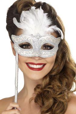 Silver Baroque Fantasy Eyemask
