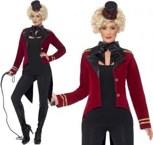 Ladies Tailcoat Ringmaster Fancy Dress Costume