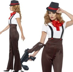 Ladies Glam Gangster Costume