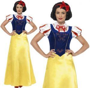 Ladies Princess Snow Fancy Dress Costume