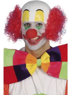 Clown Fancy Dress Headpiece & Wig