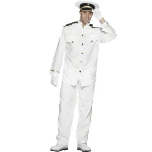 Mens Sailor Captain Officer & Gentleman Costume