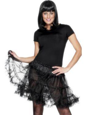 Ladies 80s Petticoat Tutu - Black