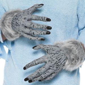 Halloween Latex Werewolf Monster Hands in Grey