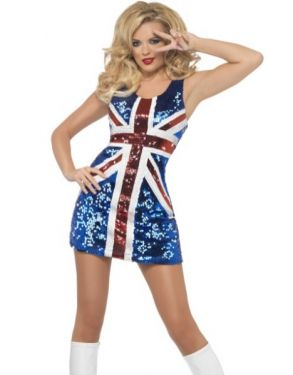 Union Jack Fancy Dress Costume - Sequin Dress