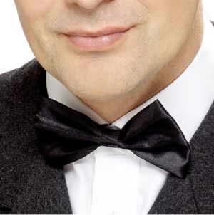 Satin Bow Tie - Black