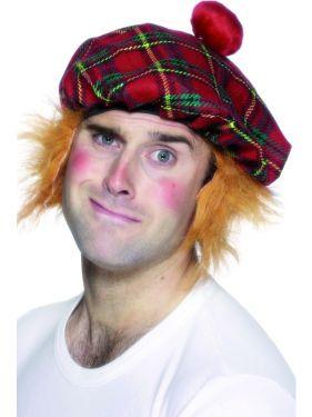 Tam 'O' Shanter Fancy Dress Scottish Jock Hat & Hair